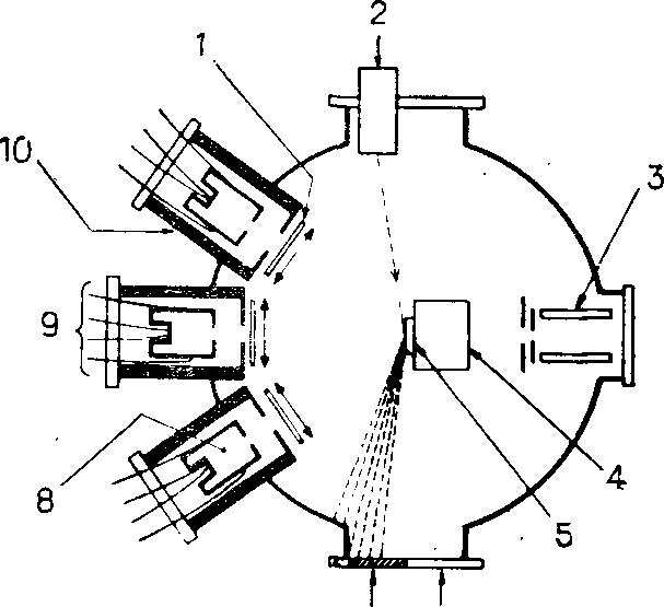 Схема установки для МЛЭ.