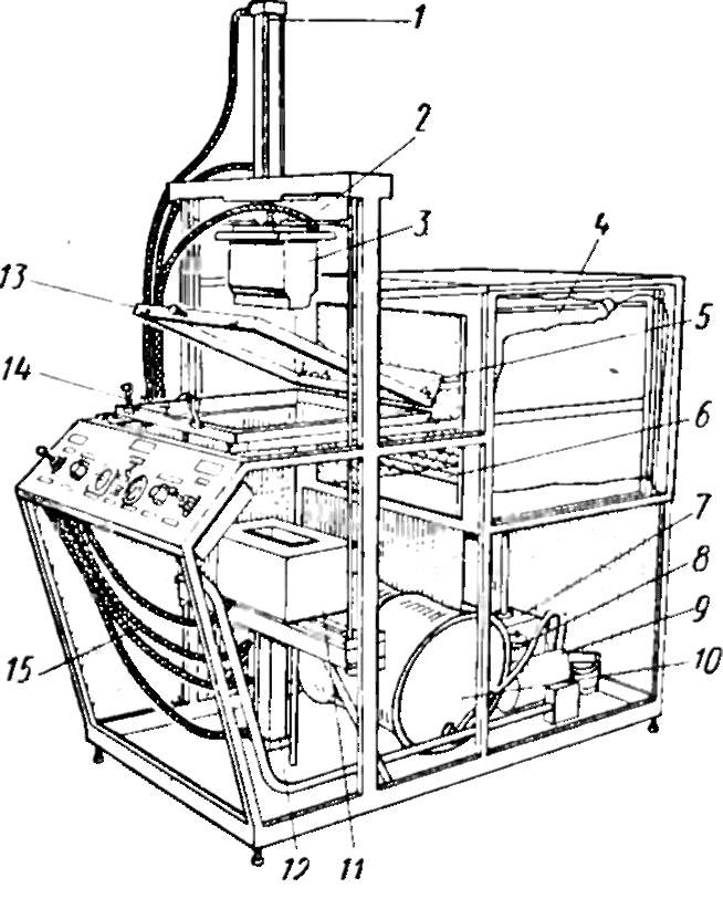 Схема вакуум-формовочной